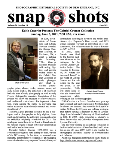 snap shots page one thumbnail